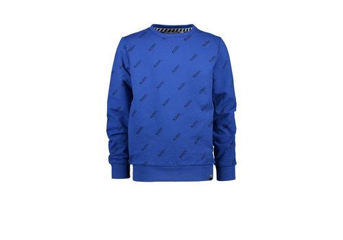 Moodstreet Moodstreet MT sweater AO text print Sporty Blue