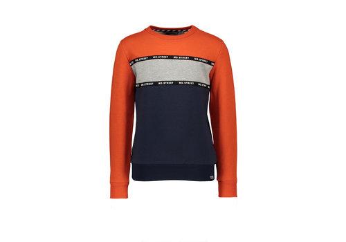 Moodstreet Moodstreet MT sweater cut&sewn Orange Red