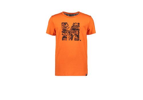 Moodstreet Moodstreet MT t-shirt chestprint Orange Red