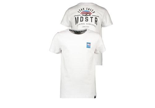 Moodstreet Moodstreet MT t-shirt chest + back print white