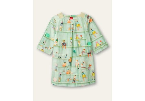 Oilily Oilily Douwe dress 72 Castle pastel green