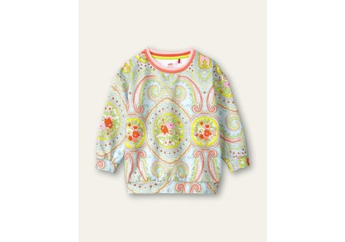 Oilily Oilily Heritage sweater 63  Paisley city rose blue