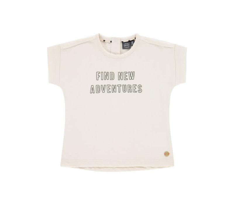 Babyface boys t-shirt short sleeve ivory BBE21108608