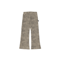 House of Jamie Flared Pants Charcoal Little Leopard