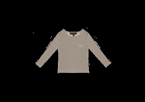 House of Jamie House of Jamie Long Sleeve Tee Charcoal Sheer Stripes