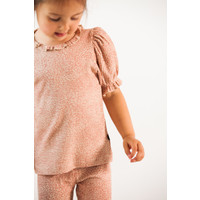 House of Jamie Puff Rib Shoulder Tee Rose Dawn Little Leopard