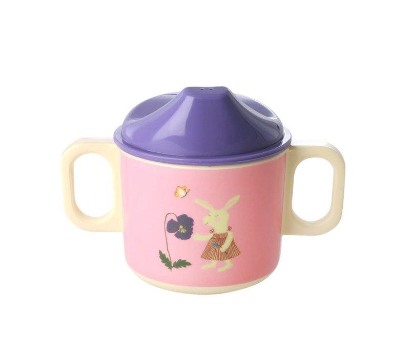 Rice baby drinkbeker Konijn Roze