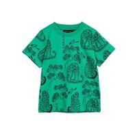 Mini Rodini Tigers aop ss tee Green