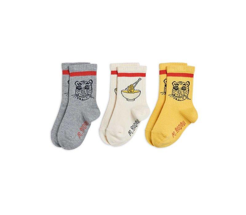 Mini Rodini Tiger 3 pack socks Multi