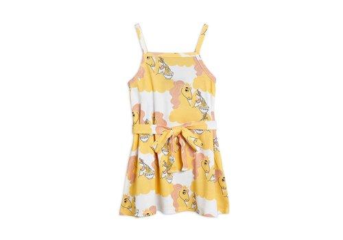 Mini Rodini Mini Rodini Unicorn noodles tank dress Yellow