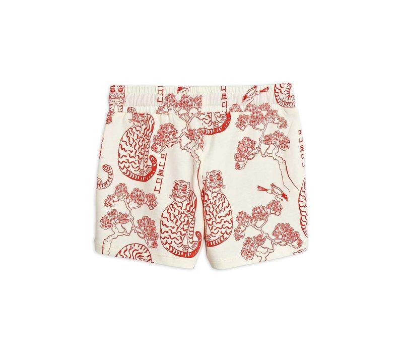Mini Rodini Tigers aop shorts Offwhite