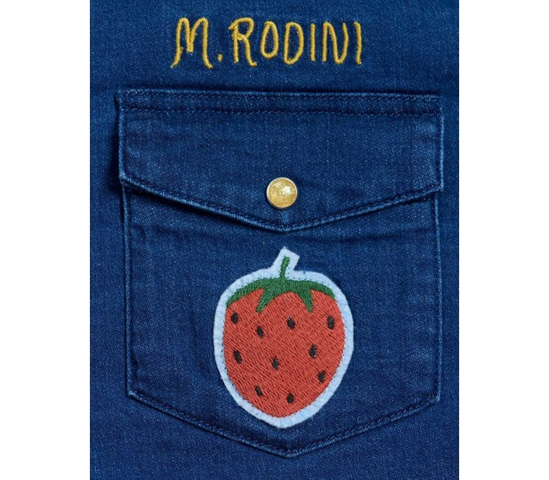 Mini Rodini Denim strawberry shirt Blue