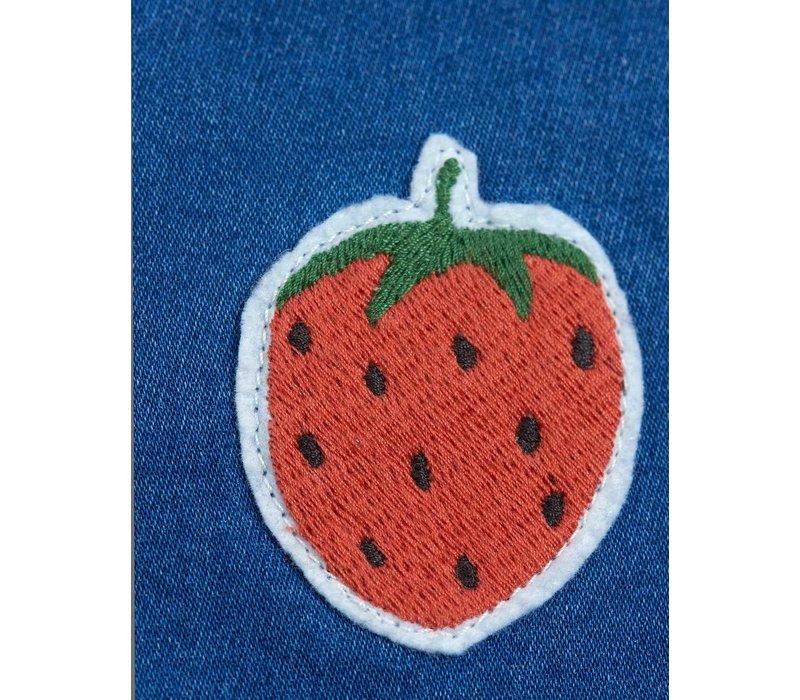 Mini Rodini Denim strawberry shorts Blue