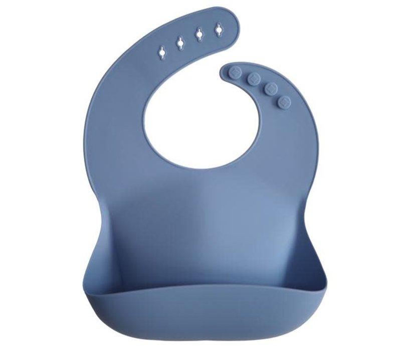 Mushie silicone slabbetje Powder Blue