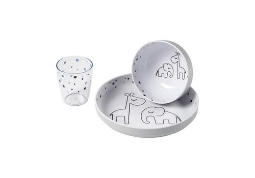 Done by Deer Done by deer Yummy mini dinner set Dreamy dots Grey