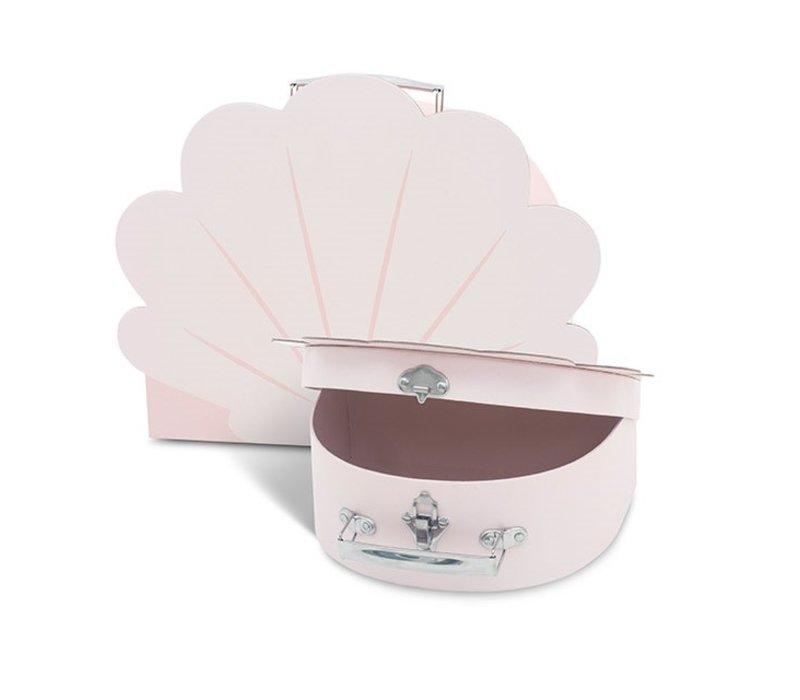 Jollein Speelkoffertje shell pale pink (2pack)