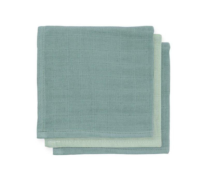 Jollein Bamboe monddoekje Ash green (3pack)