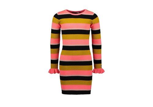 Moodstreet Moodstreet MT knitted dress diva pink