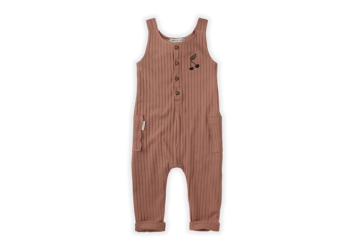 Sproet & Sprout Copy of Sproet&Sprout  Jumpsuit Rib Cherry