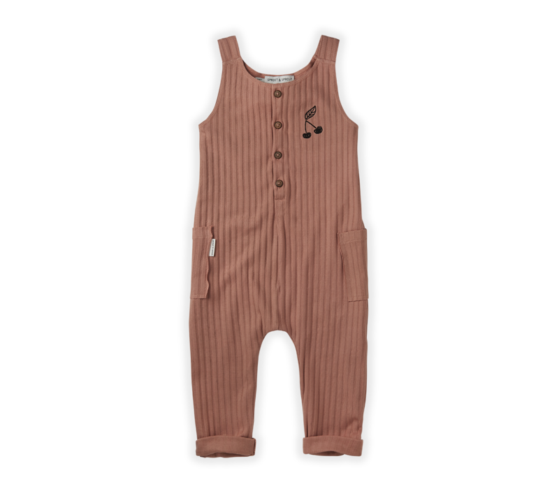 Copy of Sproet&Sprout  Jumpsuit Rib Cherry