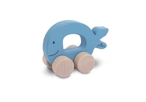 Jollein Jollein Houten speelgoedauto Sea animal blue