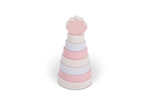 Jollein Jollein Houten stapeltoren shell pink