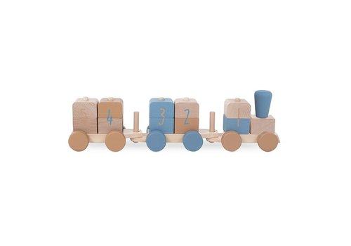 Jollein Jollein Houten speelgoedtrein blue