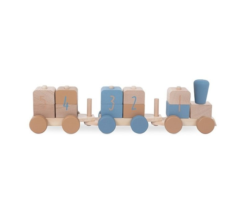 Jollein Houten speelgoedtrein blue