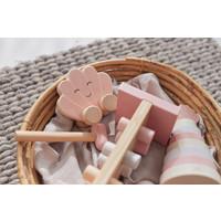 Jollein Houten speelgoedauto shell pink
