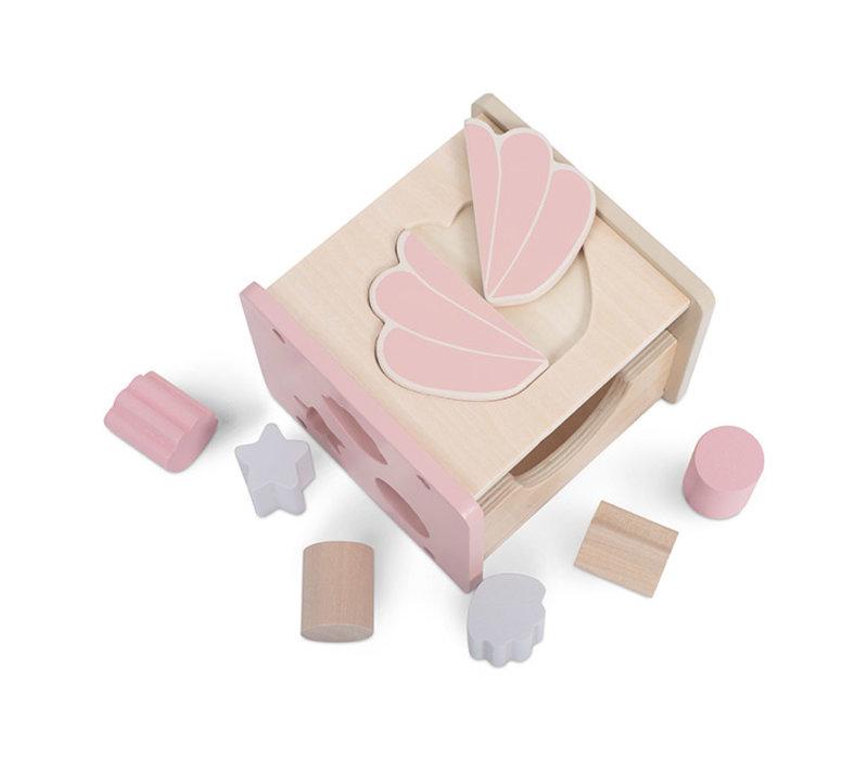 Jollein Houten vormenstoof shell pink