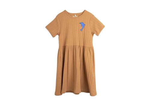 Mini Rodini Mini Rodini Dolphin emb ss dress Brown