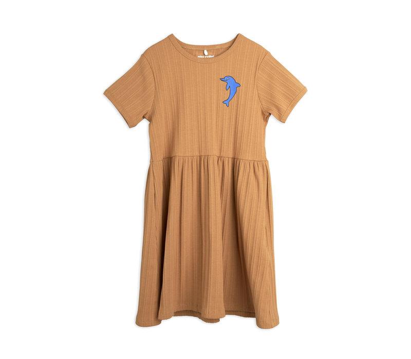 Mini Rodini Dolphin emb ss dress Brown