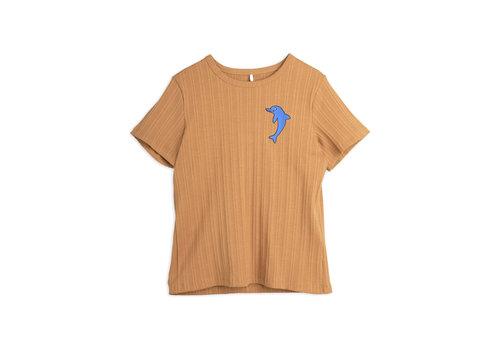 Mini Rodini Mini Rodini Dolphin emb ss tee Brown