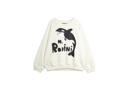 Mini Rodini Mini Rodini Orca sp sweatshirt Offwhite