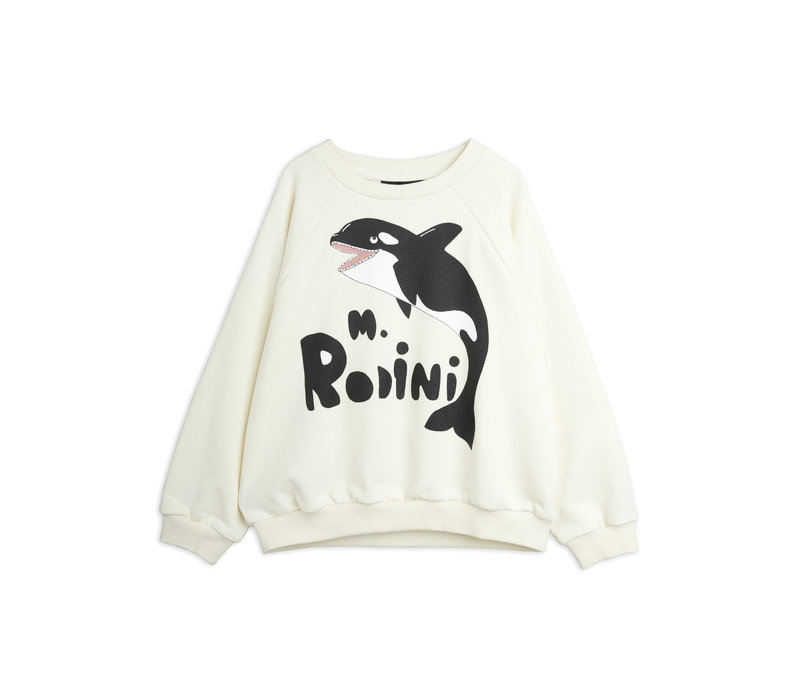 Mini Rodini Orca sp sweatshirt Offwhite
