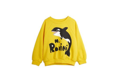 Mini Rodini Mini Rodini Orca sp sweatshirt Yellow