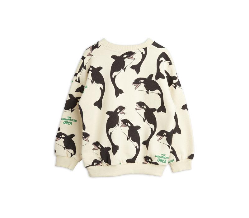Mini Rodini Orca aop sweatshirt Offwhite