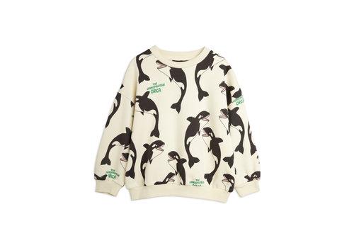Mini Rodini Mini Rodini Orca aop sweatshirt Offwhite