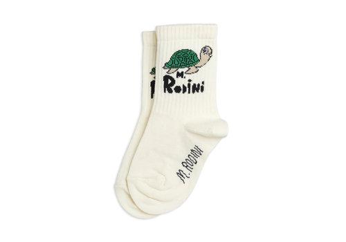 Mini Rodini Mini Rodini Turtle sock Offwhite