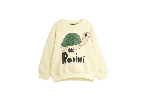 Mini Rodini Mini Rodini Turtle sp sweatshirt Yellow