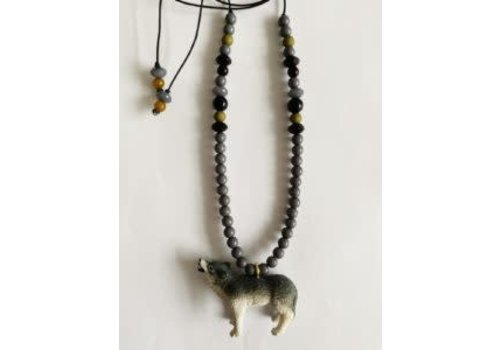 ByMelo ByMelo Dierenketting stoer Wes de wolf