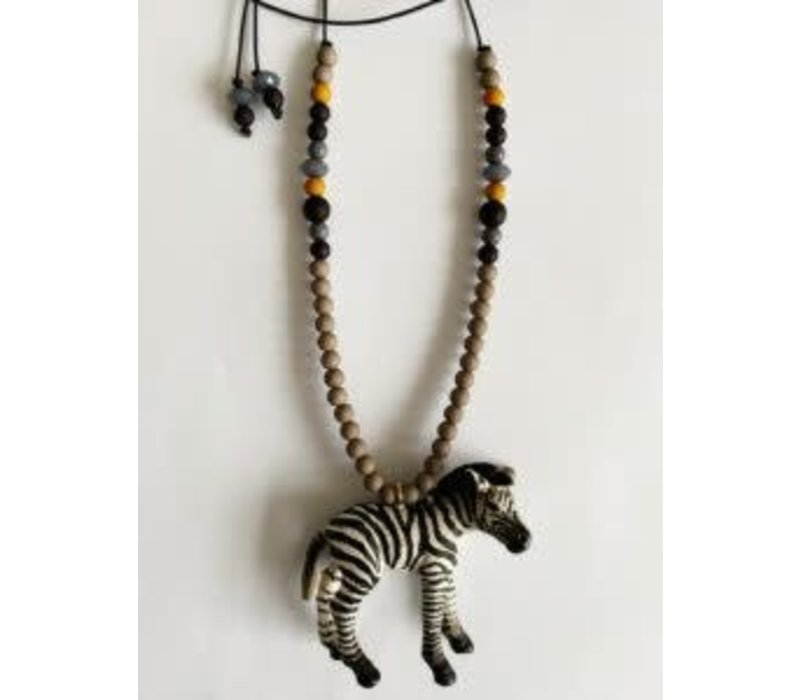 ByMelo Dierenketting stoer Zef de zebra