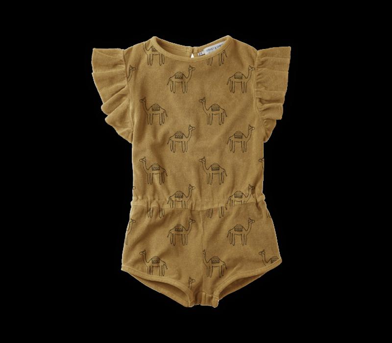 Sproet & Sprout Jumpsuit Print Camel