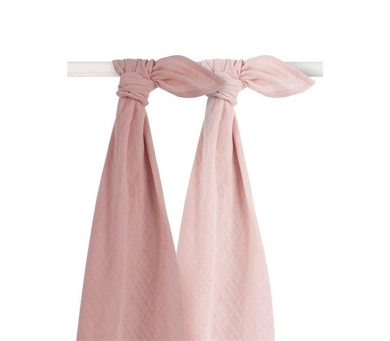 Jollein Bamboe Multidoek large 115x115cm Pale pink (2pack)