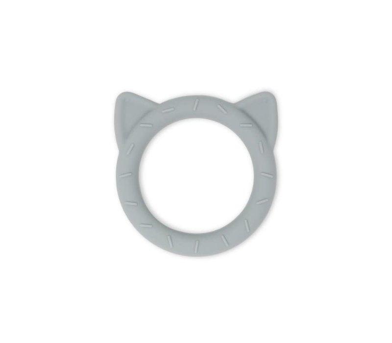 Mushie Siliconen Bijtring Cat stone