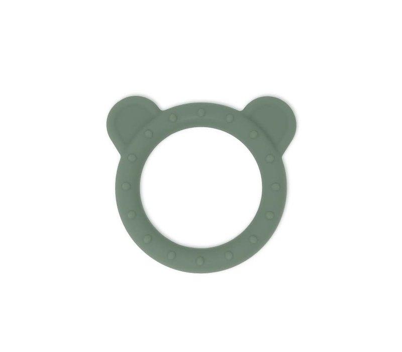 Mushie Siliconen Bijtring Bear Dried Thyme