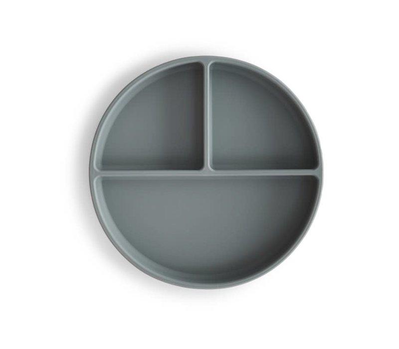 Mushie Silicone verdeelbord - Stone