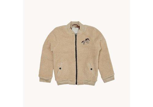 CarlijnQ CarlijnQ Wild Horse - teddy bomber jacket wt embroidery