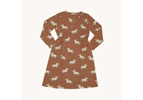 CarlijnQ CarlijnQ Wild Horse - 2 button dress