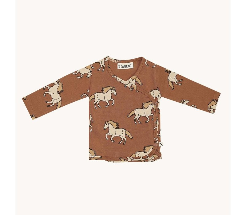 CarlijnQ Wild Horse - kimono cardigan baby